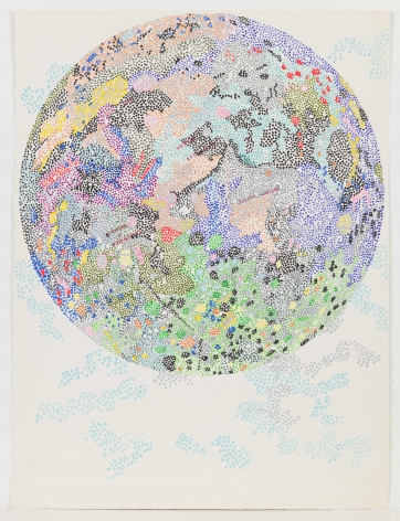 NANCY GRAVES Untitled #127 (Drawing of the Moon) circa 1972