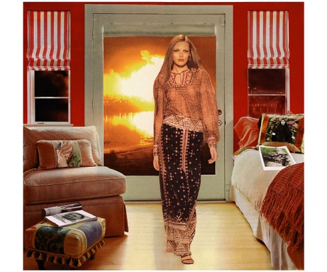 MARTHA ROSLER Red and White Shades (Baghdad Burning), from the seriesHouse Beautiful: Bringing the War Home, New Series