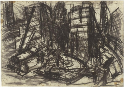 LEON KOSSOFF Demolition of YMCA building, London, no. 2