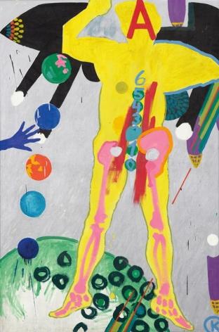 KIKI KOGELNIK Untitled (A) c. 1963