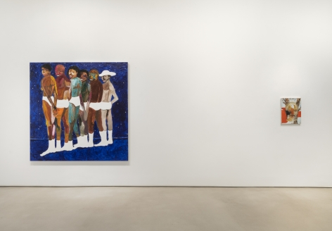 Installation view of Blue Boys Blues