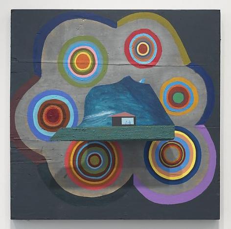 CHRIS JOHANSON Window Painting #4 (with self)