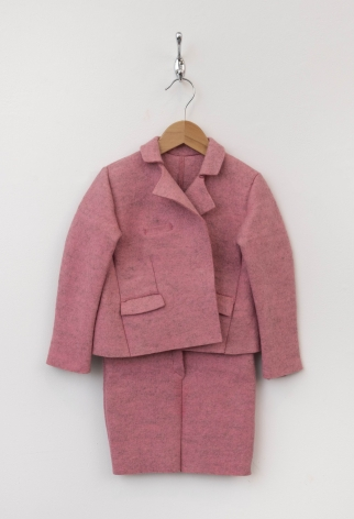 ANNETTE LEMIEUX, Girl's Felt Suit Pink (after Beuys)