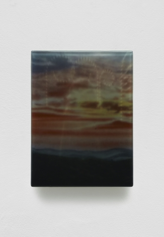 SADIE BENNING,Pain Thing 2,Detail, Sequence 11, Panel 42 (Dolly), 2019, wood, photographic transparencies, aqua resin and resin, 53 panels/16 sequences, each: 9 3⁄4 by 7 1⁄4 in. 24.8 by 18.4 cm.