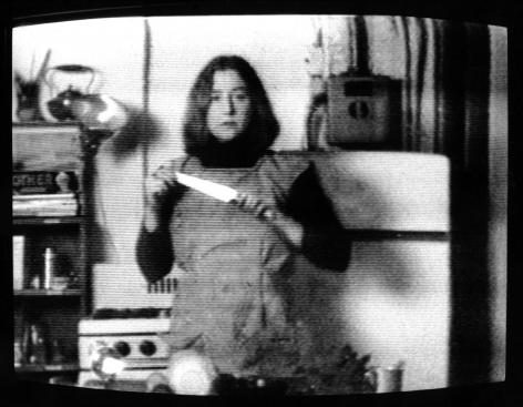 Martha Rosler  Semiotics of the Kitchen (still)  1975