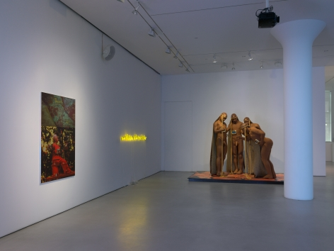 Installation view of We Are In Hell When We Hurt Each Other