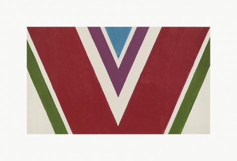 KENNETH NOLAND Red Divide