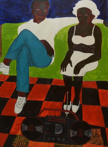 GIDEON APPAH  Lovers on a Green Couch  2019