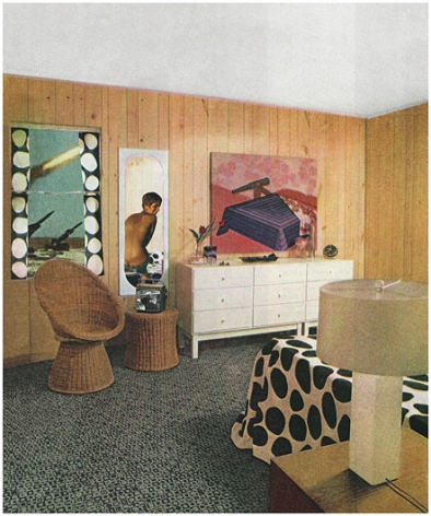 MARTHA ROSLER Woman with Cannon (Dots), from the series House Beautiful: Bringing the War Home