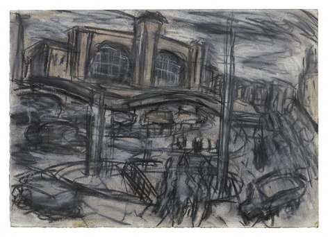 LEON KOSSOFF King's Cross Stormy Day no. 1