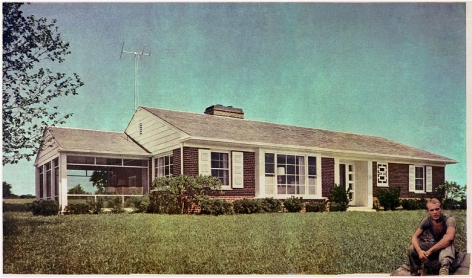 MARTHA ROSLER Tract House Soldier, from the seriesHouse Beautiful: Bringing the War Home