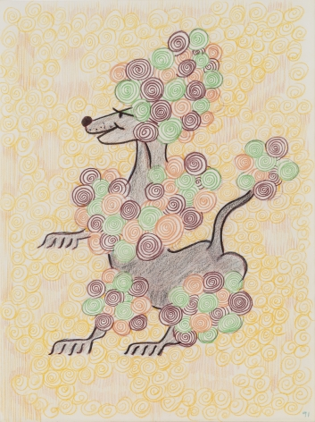 GENERAL IDEA  Untitled (Poodle) [Drawing #268]  1991