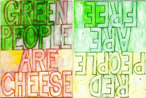 POPE.L Red People Are Free, Green People Are Cheese