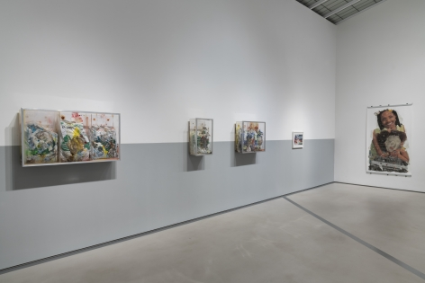 POPE.L Installation view of One thing after another (part two) at Mitchell-Innes & Nash, New York, 2018