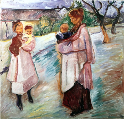 EDVARD MUNCH Mother and Children