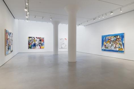 EDDIE MARTINEZ Installation view ofInside Thoughtsat Mitchell-Innes & Nash, New York, 2021