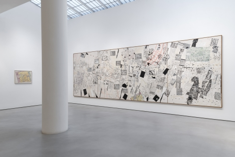NANCY GRAVES Installation view of Mapping at Mitchell-Innes & Nash, New York, 2019