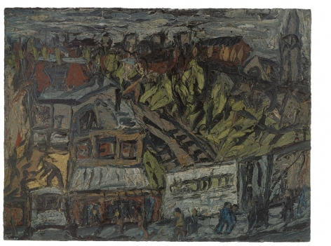 LEON KOSSOFF View of Hackney with Dark Day