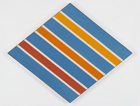 KENNETH NOLAND Orange and Blue Circa
