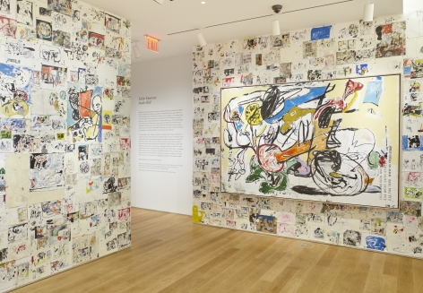 EDDIE MARTINEZInstallation view of Studio Wall at The Drawing Center, New York, NY, 2017
