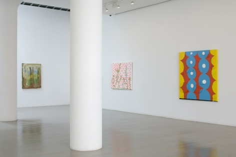 CHRIS MARTIN Installation view at Mitchell-Innes & Nash, NY, 2008