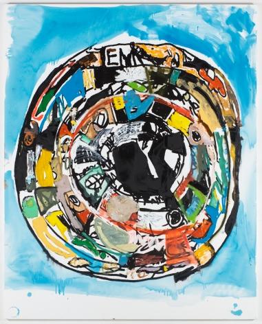EDDIE MARTINEZ Mandala #7 (Frankenthaler Wash)