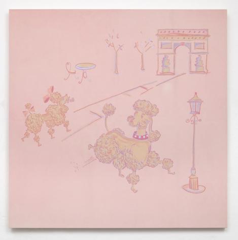 GENERAL IDEA  Untitled (Pink Poodles with Arc de Triomphe)  1983