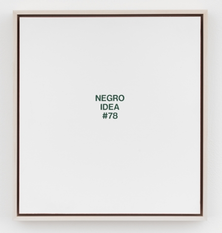 POPE.L Negro Idea #78