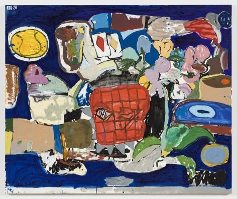 EDDIE MARTINEZ The Deal (Yves Klein Blue) 2020