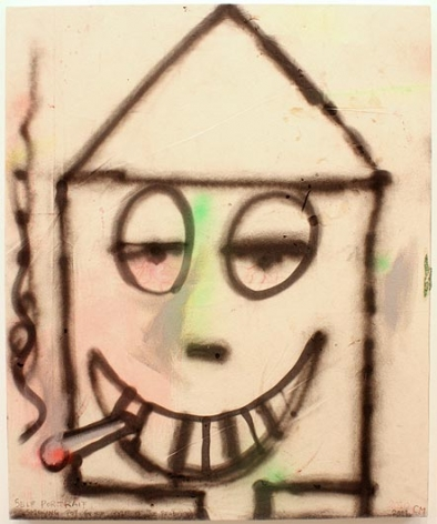CHRIS MARTIN Self Portrait Smoking Pot (In The Style Of Joe Bradley)