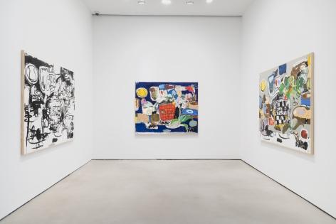 EDDIE MARTINEZ Installation view ofInside Thoughts at Mitchell-Innes & Nash, New York, 2021