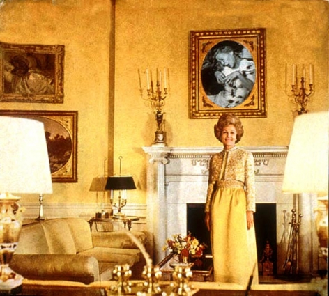 MARTHA ROSLER First Lady (Pat Nixon), fom the series House Beautiful: Bringing the War Home