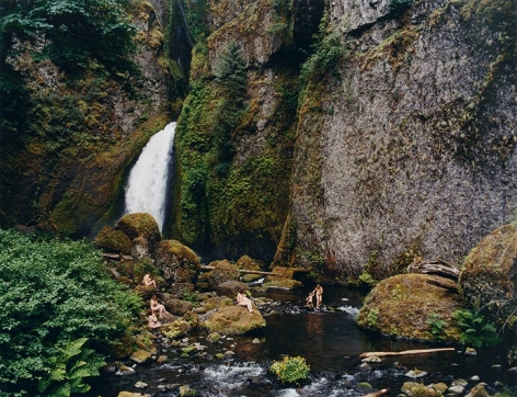 JUSTINE KURLAND Waterfall, Mama Babies