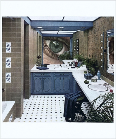MARTHA ROSLER Bathroom Surveillance, or Vanity Eye. from the series Body Beautiful, or Beauty Knows No Pain