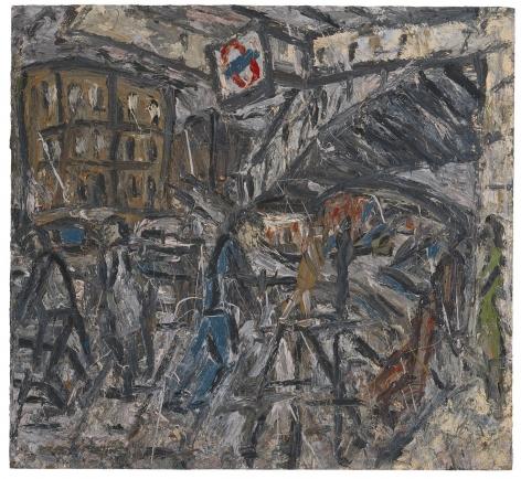 LEON KOSSOFF Outside Kilburn Underground Station