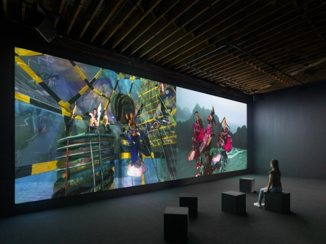 JACOLBY SATTERWHITE Installation view ofYou're at homeat Pioneer Works, Brooklyn, NY, 2019