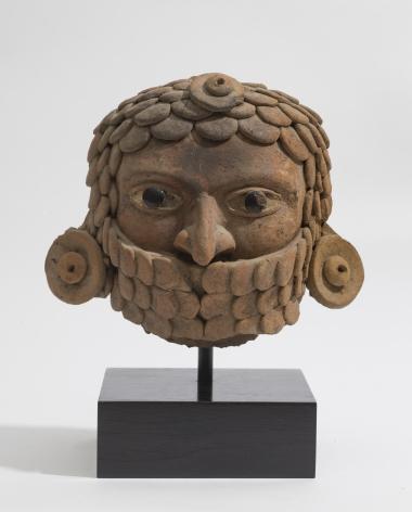 VERACRUZ Warrior Head wearing a Feathered Chin strap