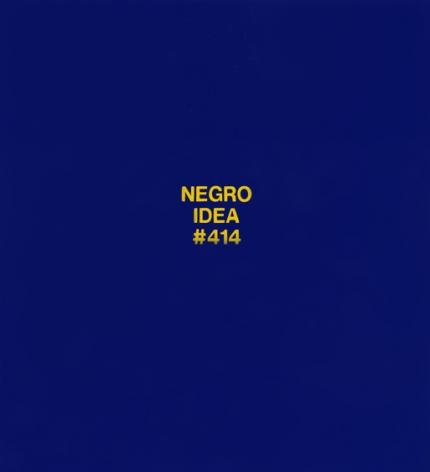 POPE.L Negro Idea #414