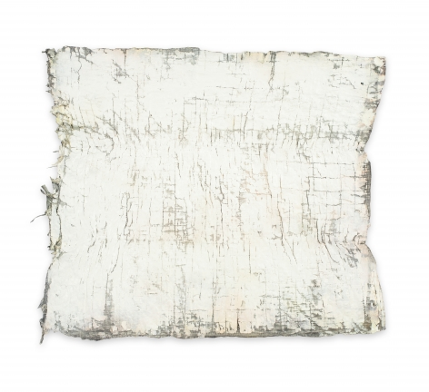 Rachel Meginnes  Worden, 2019, Mixed Media, Deconstructed quilt, hand stitching, image transfer, acrylic, and spray paint  22 1/2h x 27w in 57.15h x 68.58w cm  Unique
