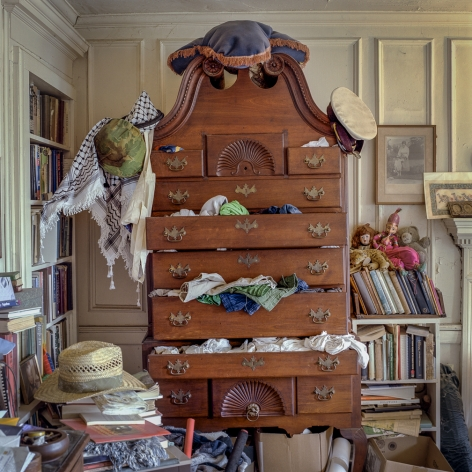 Ken Abbott, John Ager's dresser. Master bedroom of the Big House at Hickory Nut Gap Farm, formerly Sherrill's Inn, Fairview, NC, 2007 Archival Pigment Print on Cotton Rag Paper 15h x 15w in, Edition of 15, Photography