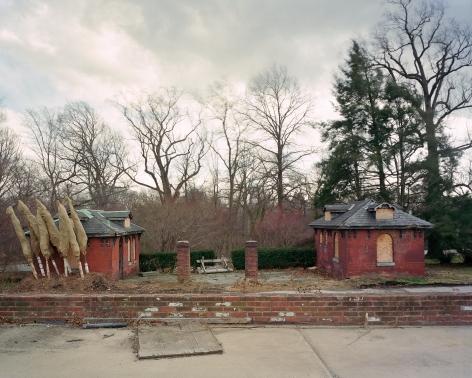 "Jade Doskow, Philadelphia 1876 World's Fair, "" Centennial Exposition,"" Fair Toilet Buildings, 2008, Archival Inkjet Print. Photography."