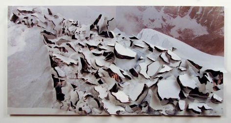 Nicholas Hall, Untitled (Glacier), 2013,  Dimensional Paper Cut-Out, 10h x 19.75w in, Mixed Media