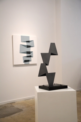 Installation image, Ralston Fox Smith, Asheville, Paintings, sculpture, light works.