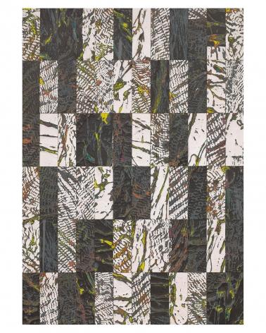Randy Shull  Black and White Siesta, 2019  acrylic, hammock on panel  40h x 28w in