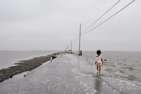 Stacy Kranitz  Island Road, 2010, from the series Isle de Jean Charles, Louisiana, 2010  Archival Pigment Print  16h x 2, Edition 1 of 34w in