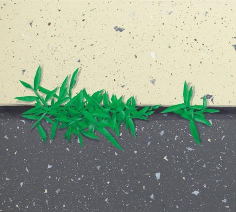 Hannah Cole  Crabgrass #1, 2017  Acrylic on canvas  18h x 20w in 45.72h x 50.80w cm  HC_014