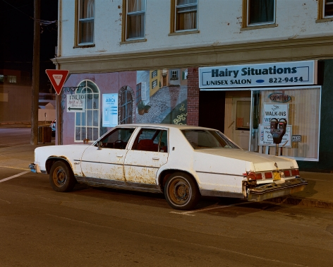 Tema Stauffer  White Car, Hudson, New York, 2016, 2016  Archival Pigment Print  24h x 30w in, Edition of 8  30h x 36w, Edition of 8  42h x 50.5w, Edition of 3
