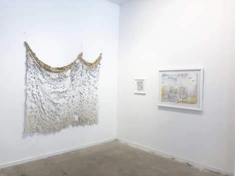 Installation View (from right: Weep, 2019, Immemory, 2019 Aftermath, 2019)