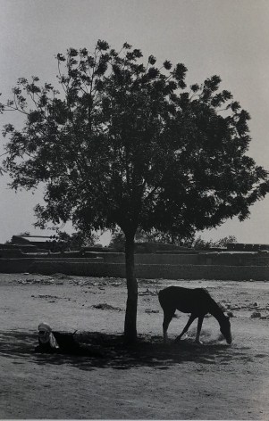 "Bernard Plossu (1945-)  Untitled, from the series ""African Desert"", 1975  Gelatin silver print  16 x 12 inches (paper) 12 x 8 inches (image), Black and White Photography"