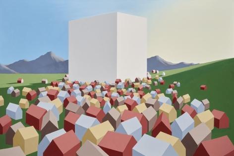 Ralston Fox Smith False God, 2015 Oil on canvas 26h x 39w in, Painting